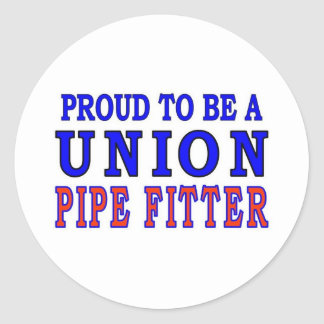 UNION PIPE FITTER CLASSIC ROUND STICKER