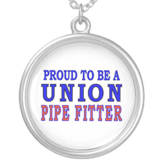 UNION PIPE FITTER ROUND PENDANT NECKLACE