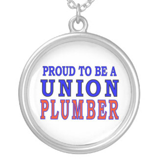 UNION PLUMBER SILVER PLATED NECKLACE