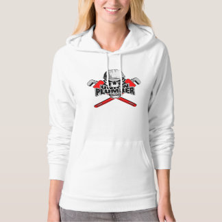 Union Plumber: Skull and Pipe Wrenches Hoodie