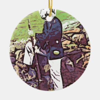Union Puppy soldier Christmas Tree Ornaments