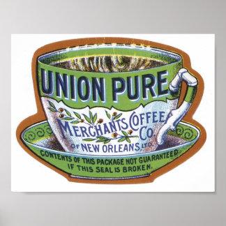 Union Pure Merchant's Coffee Label Poster