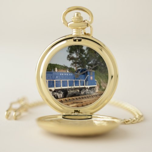 Union Railroad Northbound at Bull Run Pocketwatch Pocket Watch
