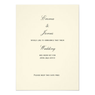 Union - Save the Date Card