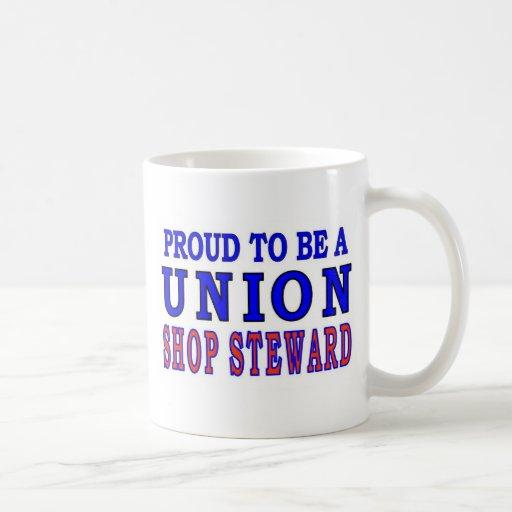 UNION SHOP STEWARD CLASSIC WHITE COFFEE MUG