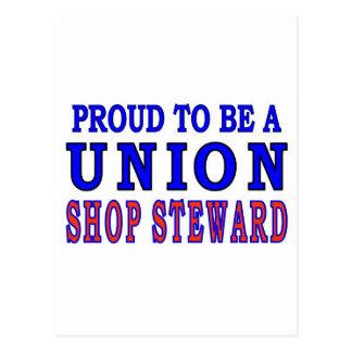 UNION SHOP STEWARD POSTCARD