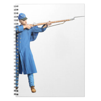 Union Soldier Aiming To The Left with Rifle Notebook
