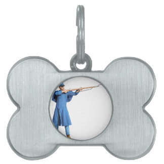 Union Soldier Aiming To The Left with Rifle Pet ID Tag