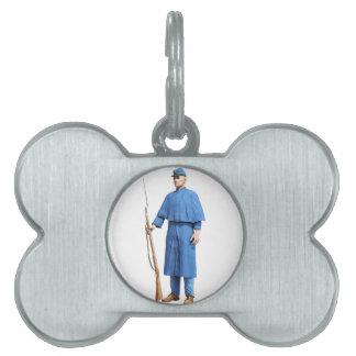 Union Soldier Guard Pet Tag