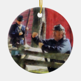 Union Soldier Loading Rifle Christmas Ornament
