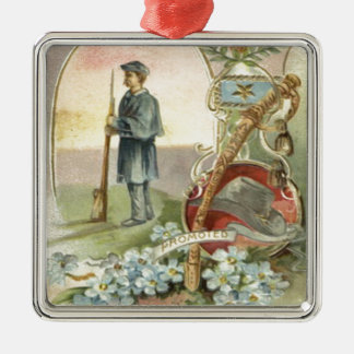Union Soldier Medal Forget Me Nots Christmas Ornaments