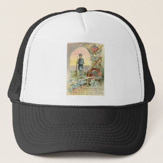 Union Soldier Medal Forget Me Nots Trucker Hat