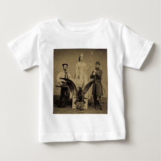 Union Soldier, Sailor, and Lady Liberty Civil War T Shirt