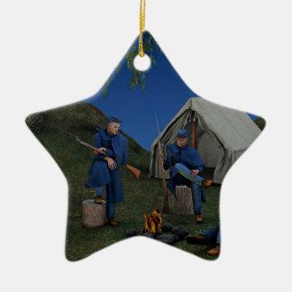 Union Soldiers Encampment Ceramic Ornament