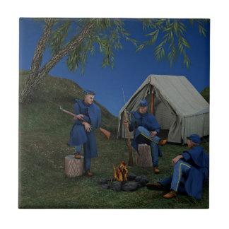 Union Soldiers Encampment Ceramic Tile