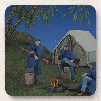Union Soldiers Encampment Coaster