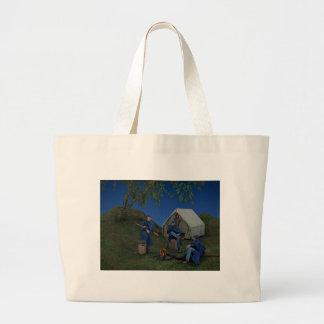 Union Soldiers Encampment Large Tote Bag