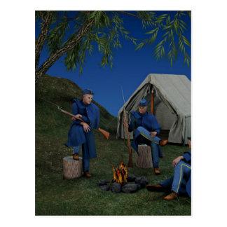 Union Soldiers Encampment Postcard
