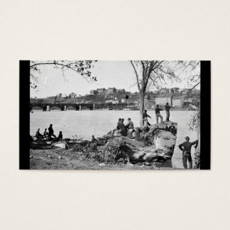 Union soldiers guarding the Potomac River in 1861 Business Card
