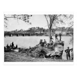 Union soldiers guarding the Potomac River in 1861 Post Card