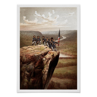 Union Soldiers On Lookout Mountain -- Civil War Poster