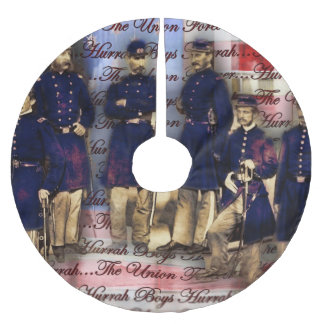 Union Soldiers With Flag Brushed Polyester Tree Skirt