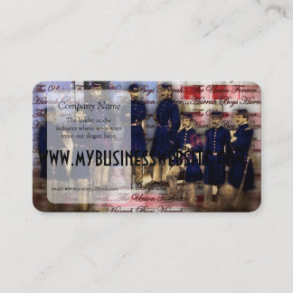 Union Soldiers With Flag Business Card