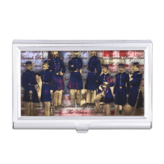 Union Soldiers With Flag Business Card Case