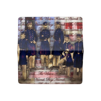 Union Soldiers With Flag Checkbook Cover