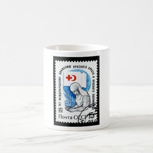 Unión Soviética que cuida el sello conmemorativo Taza Clásica
