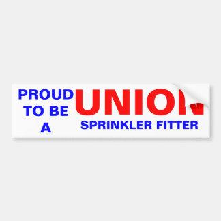 UNION SPRINKLER FITTER BUMPER STICKER