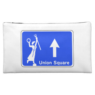 Union Sq., San Francisco Street Sign Cosmetic Bags