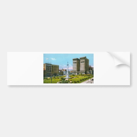 Union Square and St. Francis Hotel Bumper Sticker