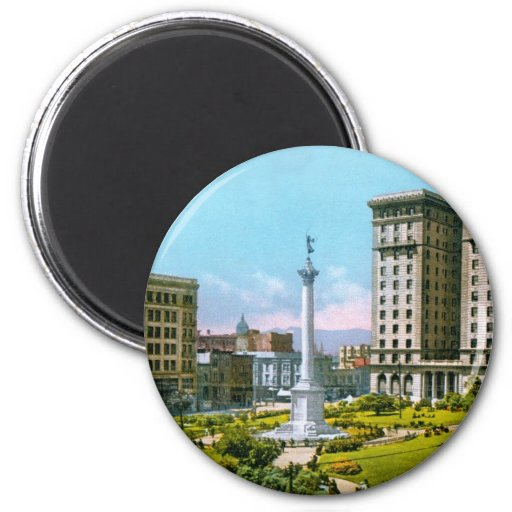 Union Square and St. Francis Hotel Refrigerator Magnet
