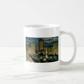 Union Square by Night, San Francisco, Cal. ~ 1910 Classic White Coffee Mug