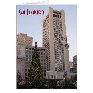 Union Square Christmas- San Francisco Card