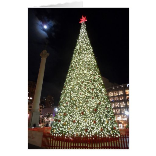 Union Square Christmas- San Francisco Greeting Card