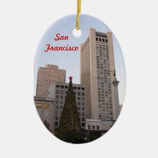 Union Square Christmas- San Francisco Ceramic Ornament