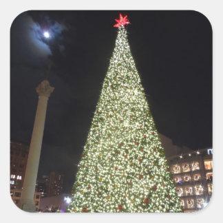 Union Square Christmas- San Francisco Square Sticker