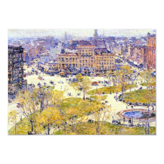 Union Square in Spring by Childe Hassam Card
