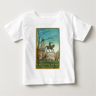 Union Square, New York. Vintage Painting. Baby T-Shirt