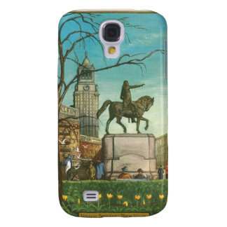 Union Square, New York. Vintage Painting. Galaxy S4 Case
