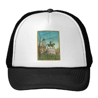 Union Square, New York. Vintage Painting. Trucker Hat