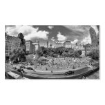 Union Square NYC From Above, B&W, Fish Eye View Business Cards