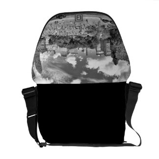 Union Square NYC From Above, B&W, Fish Eye View Commuter Bags