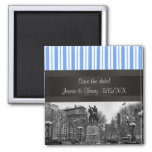 Union Square NYC in Winter BW 01 Save the Date Magnets