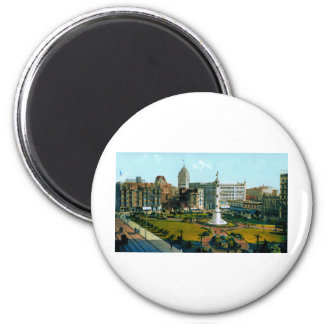 Union Square Park from Post and Powell Streets 2 Inch Round Magnet