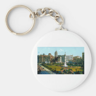 Union Square Park from Post and Powell Streets Keychain
