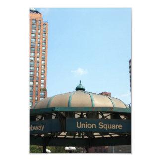 Union Square Subway NYC 3.5x5 Paper Invitation Card