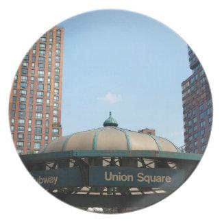 Union Square Subway NYC Plate